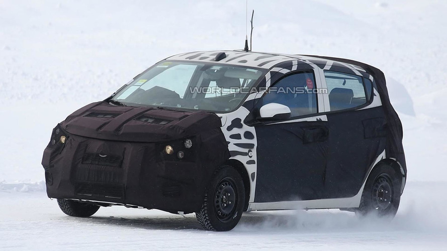 Next-gen Chevrolet/Opel Spark spied winter testing
