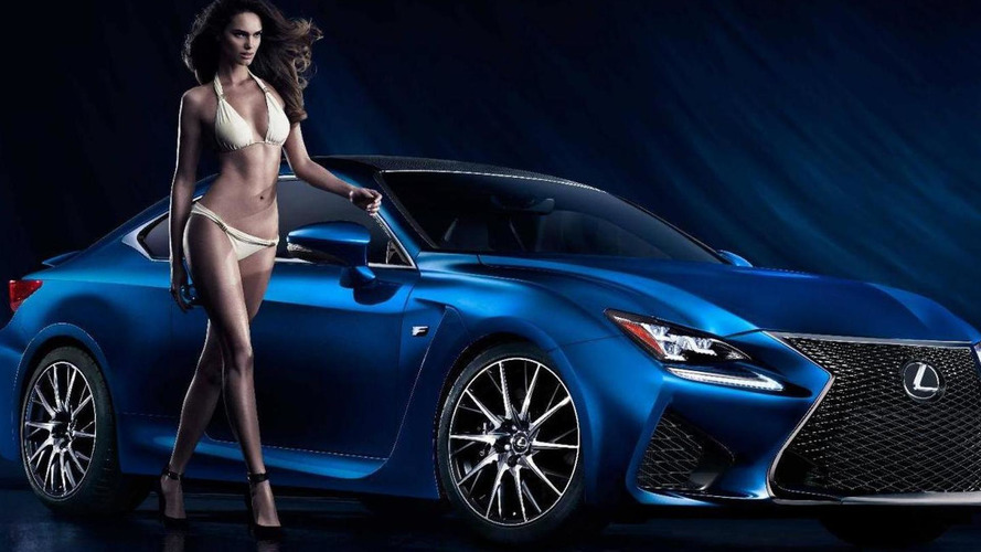 Lexus taps swimsuit model Netasha Bernard to promote the RC F [video]