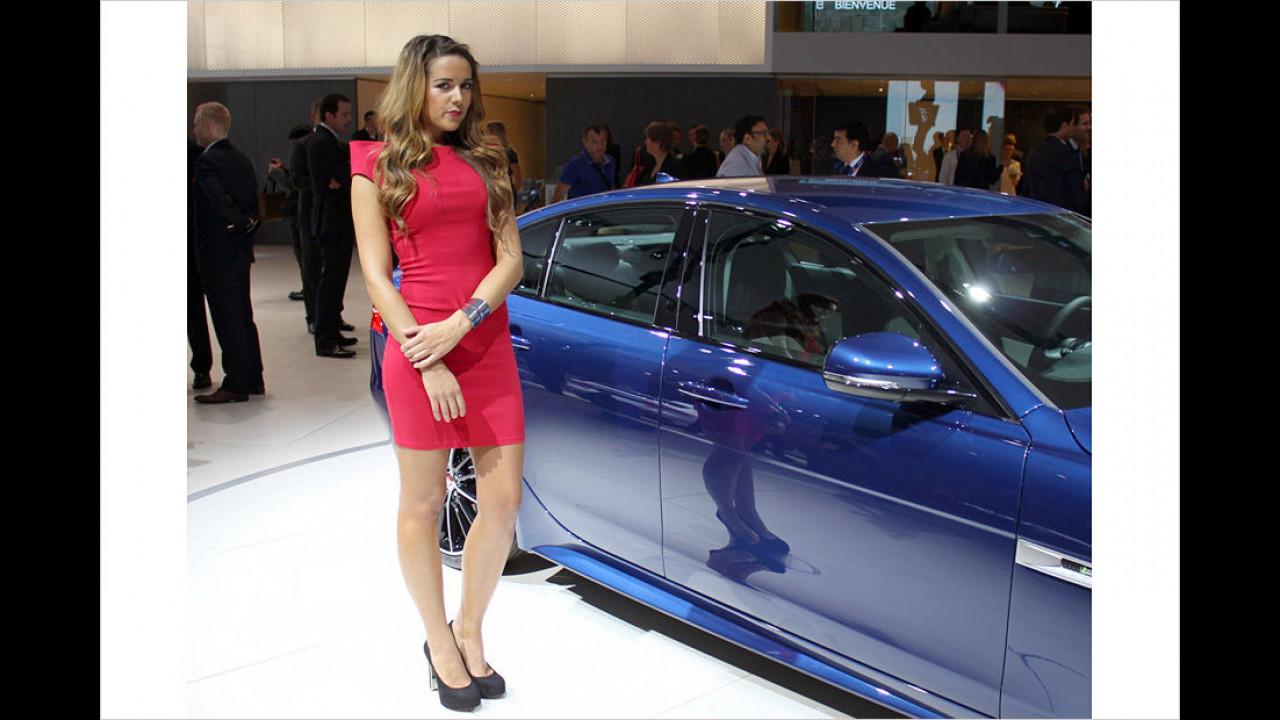 Na, so schüchtern neben so einem schönen Auto? Da müssen Sie doch nicht so zurückhaltend sein!