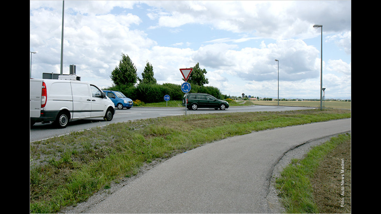 Kreisverkehr: Gilt da ,rechts vor links