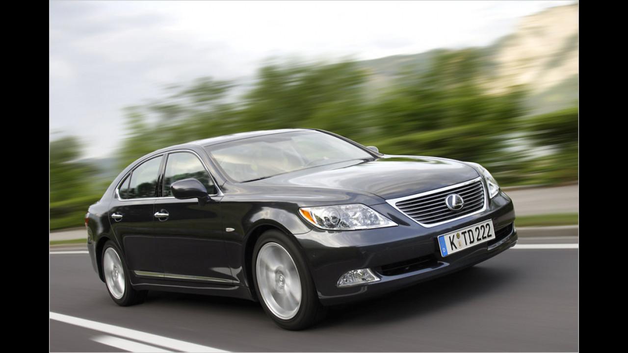 Sechs Exemplare: Lexus LS