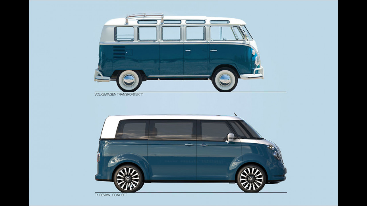 VW T1 (1950 bis 1967) und T1 Revival Concept