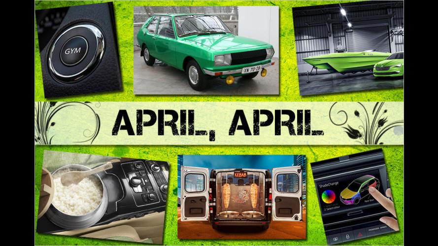 Die besten Aprilscherze aus den Auto-Pressestellen