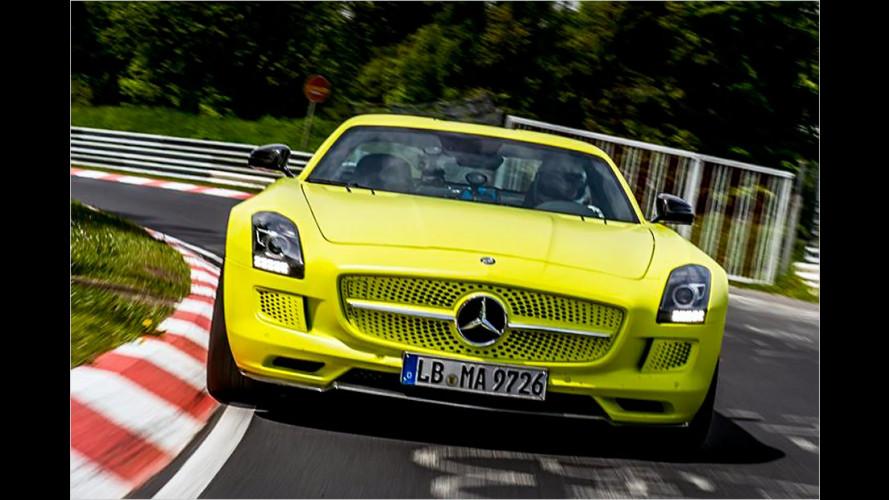 Mercedes SLS AMG Electric Drive auf der Nordschleife