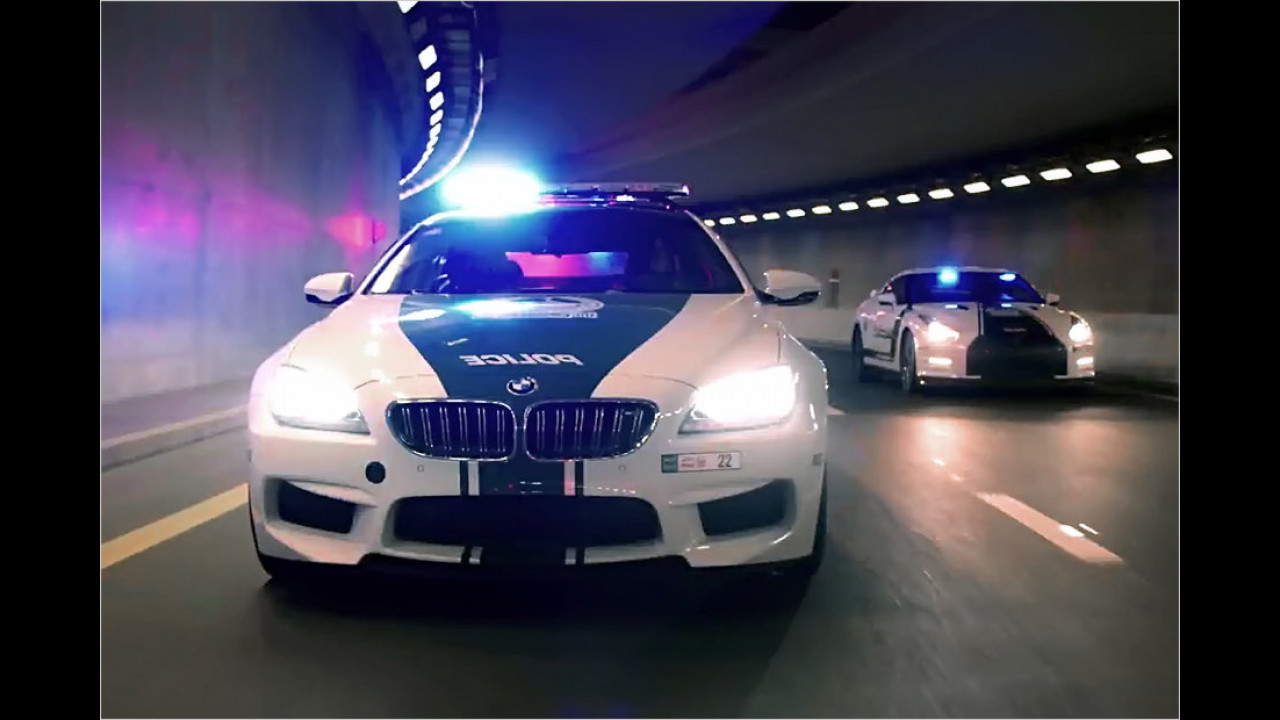 BMW M6 und Nissan GT-R Dubai Police