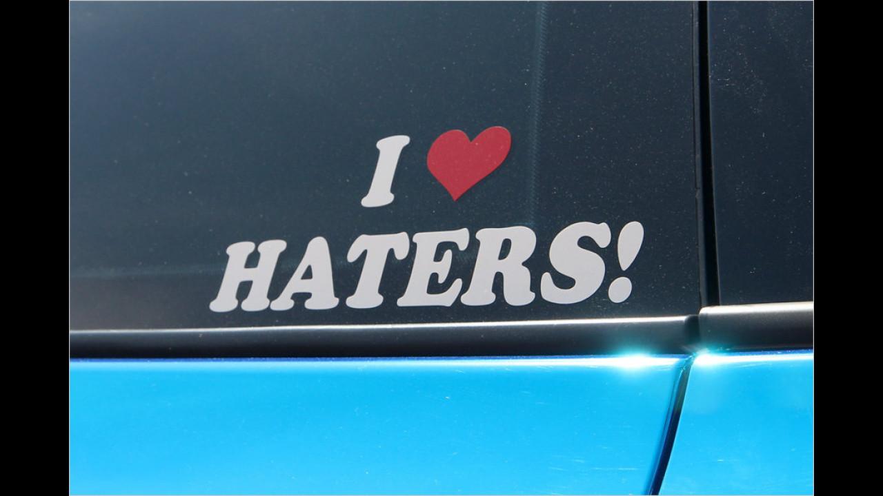 Manche mögen das Provozieren offensichtlich und fühlen sich von Hatern (Hassern, Kritikern) nur noch mehr bestätigt.