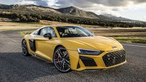 Sarı Renkli Bir 2019 Audi R8 V10 Performance Quattro