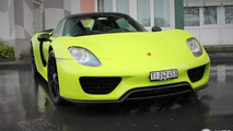 Lime Green Porsche 918 Spyder Weissach