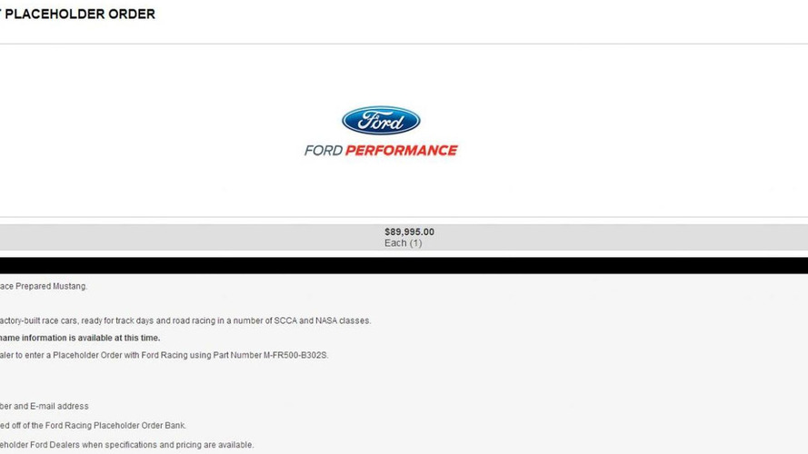 """Mysterious """"Road Race Prepared Mustang"""" surfaces on Ford Racing website"""