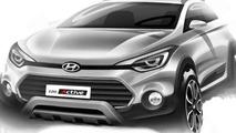 Hyundai i20 Active design sketch
