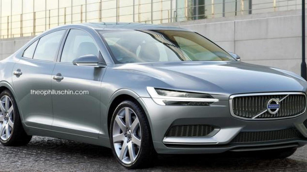 Volvo S80 rendering / Theophilus Chin