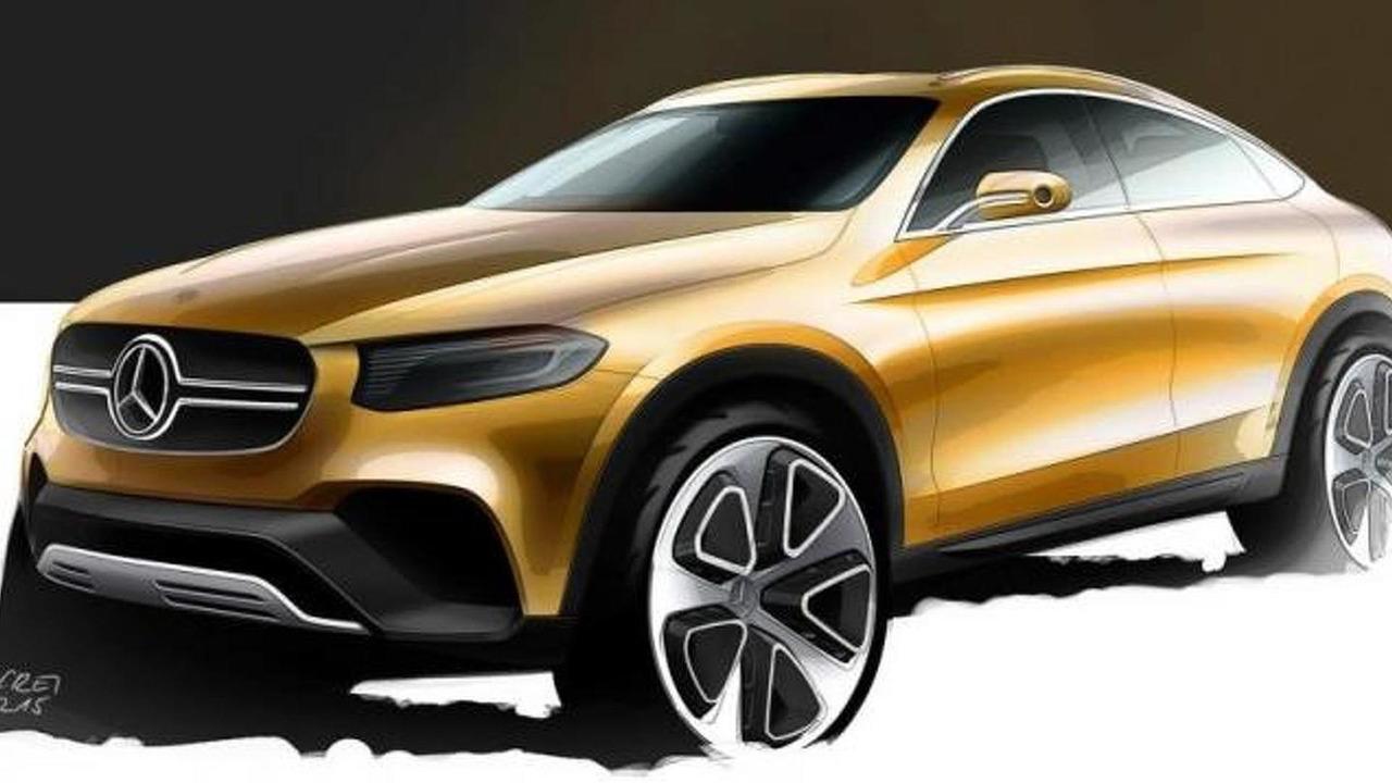 Mercedes-Benz GLC Coupe design sketch
