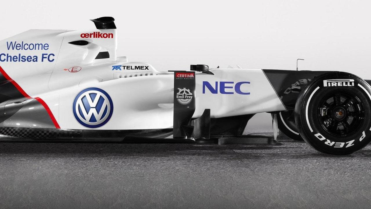 Sauber C31 Formula 1 race car with edited Volkswagen logo 23.07.2012