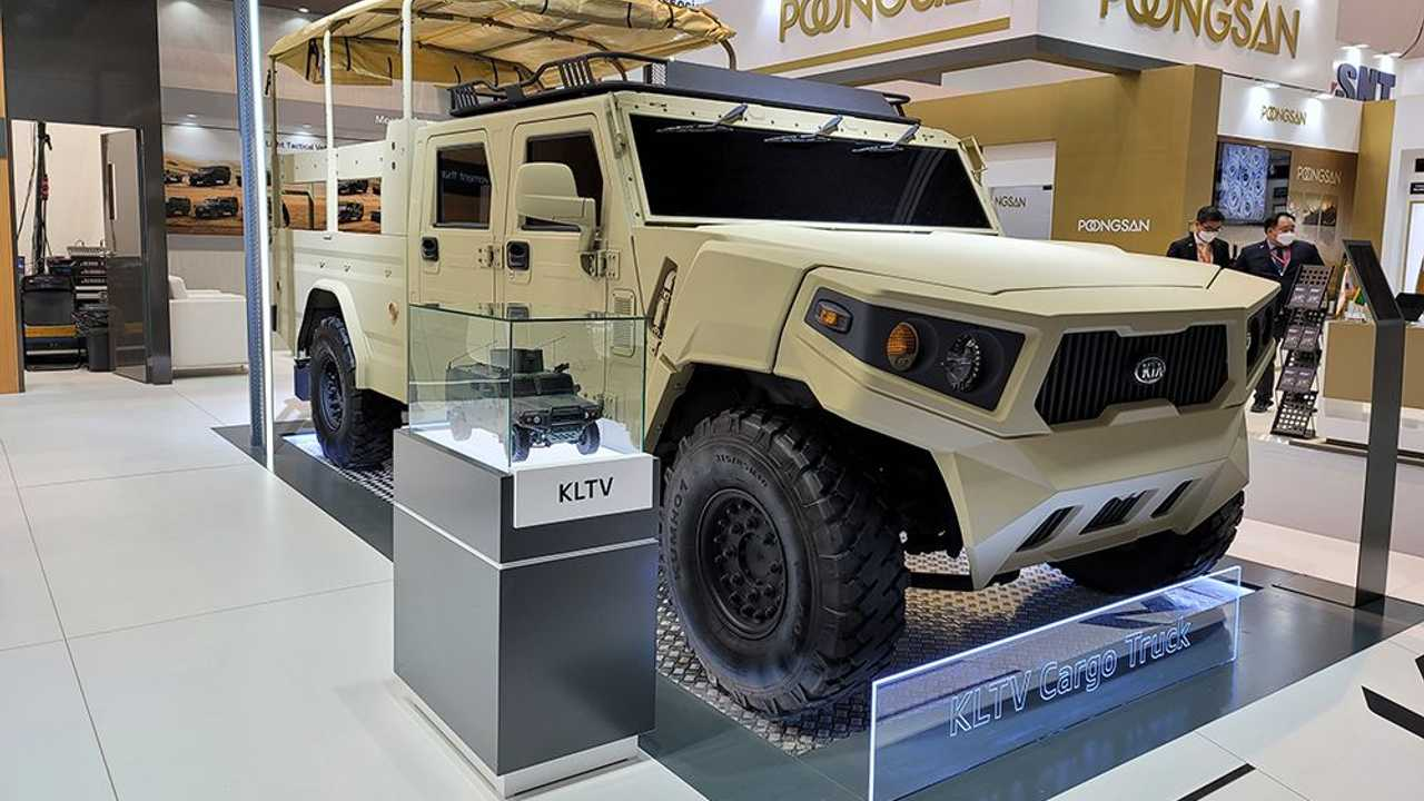 Inilah mobil konsep Kia untuk keperluan militer.