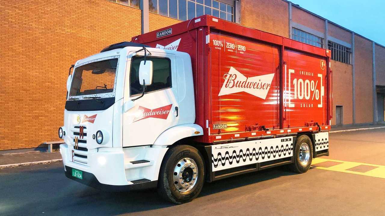 FNM 833 electric truck in Ambev fleet in Brazil