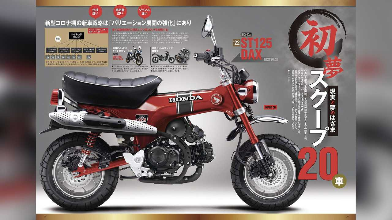 Honda ST 125 Dax Render by Young Machine