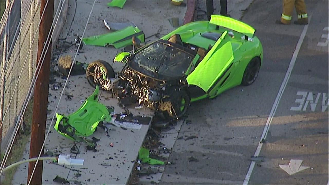 McLaren 650S Spider crash in Los Angeles