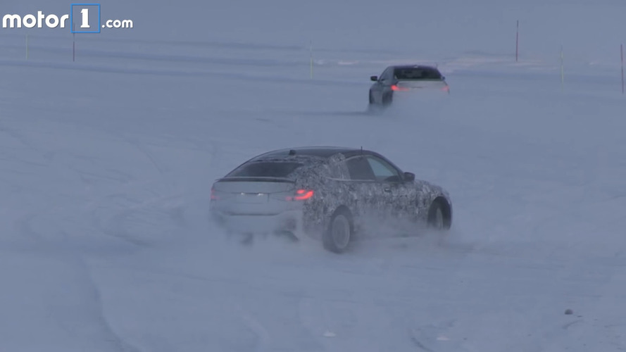BMW 6 Series GT spied in action drifting on snow