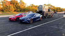 Tesla Model S P100D drag record