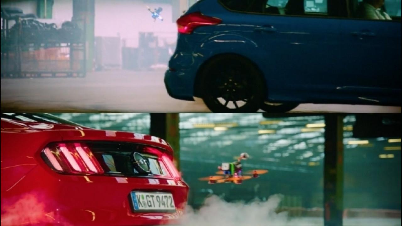 [Copertina] - Ford Focus RS e Mustang sfidano i droni