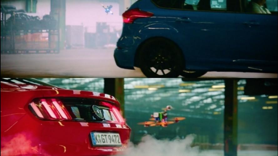 Ford Focus RS e Mustang sfidano i droni