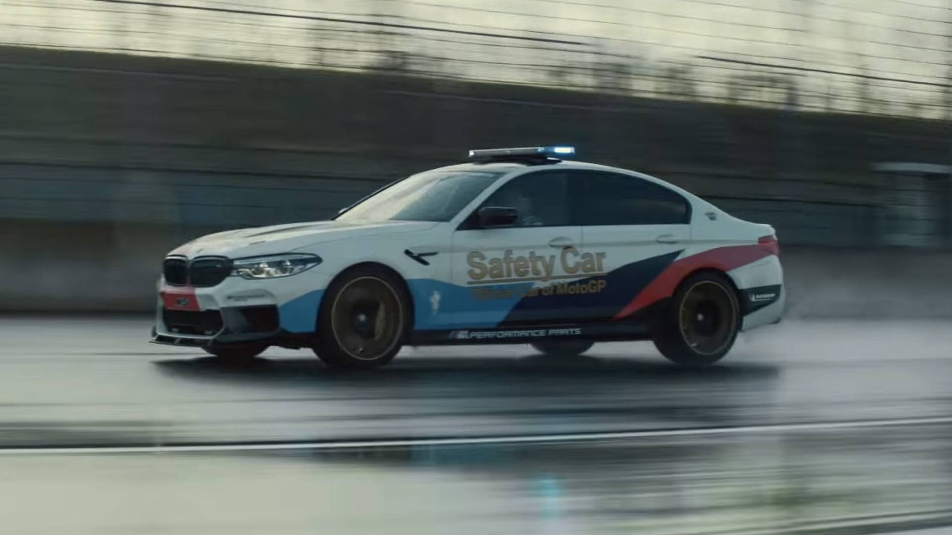 bmw m5 with m performance parts gets high speed promo