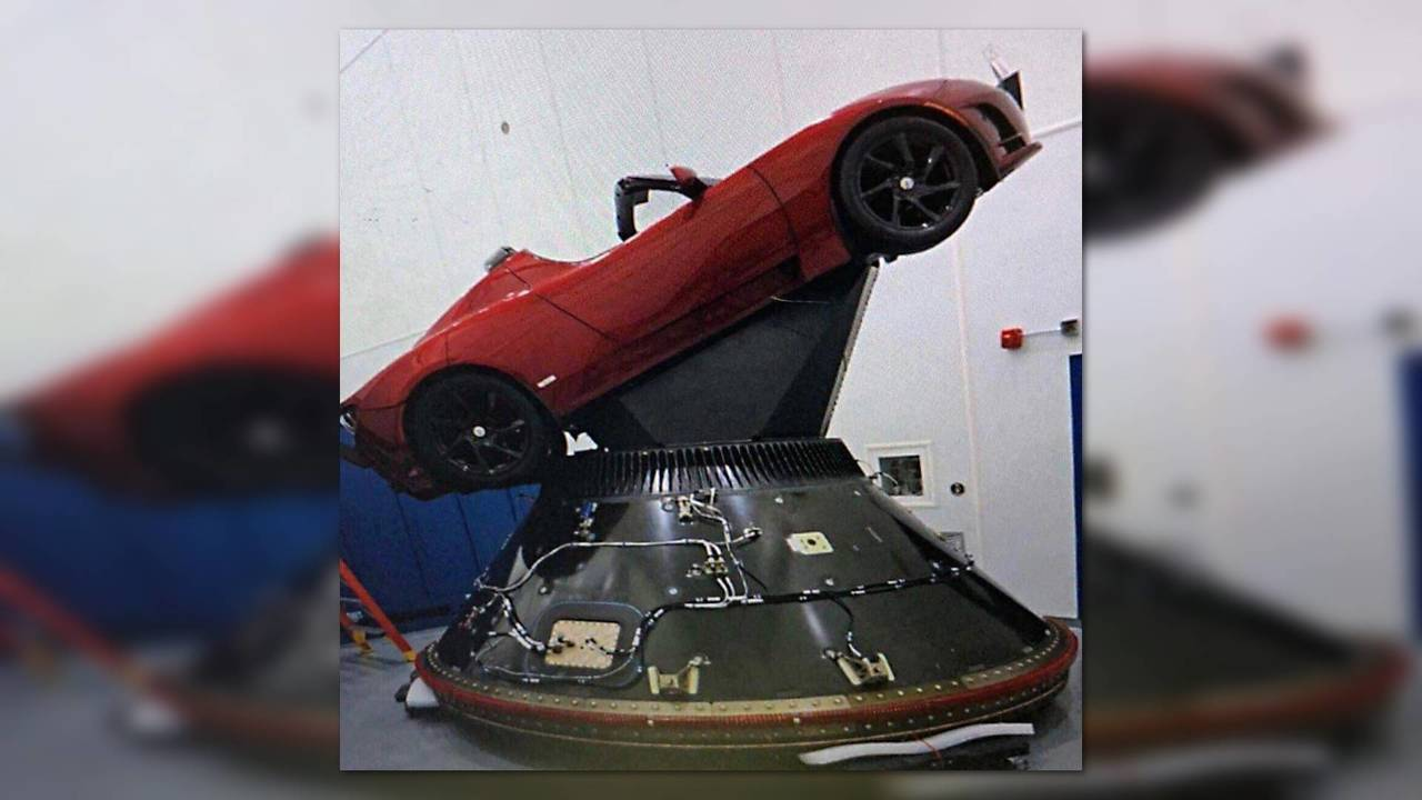 Tesla Roadster Outer Space