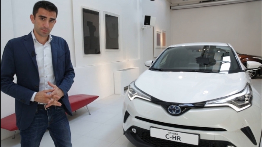 Toyota C-HR, l'ibrido con stile in formato SUV [VIDEO]