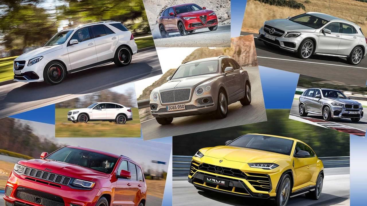 Die zehn schnellsten SUVs