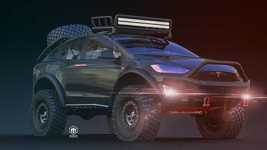 Tesla Model X Imagined As Overlanding Warrior Has Our Attention