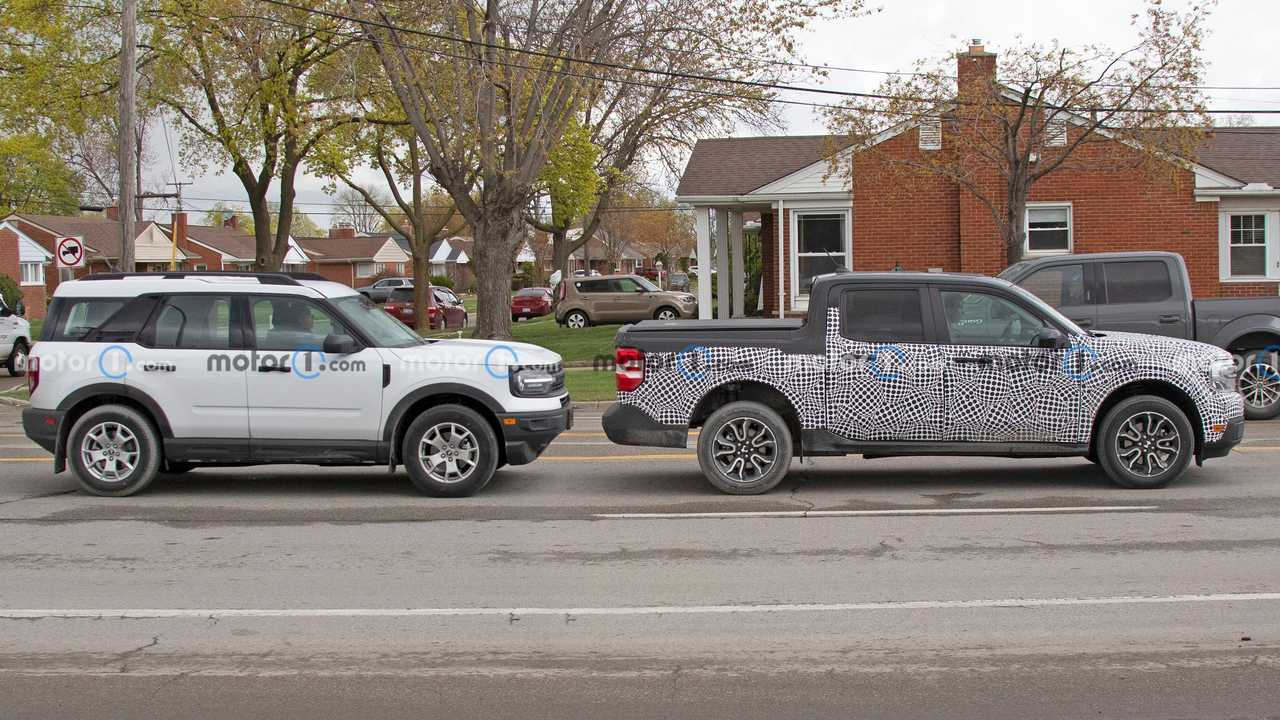 Ford Maverick and Ford Bronco Sport together