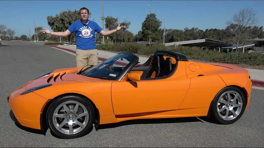 Doug DeMuro Reviews Early Tesla Roadster That's Up For Sale