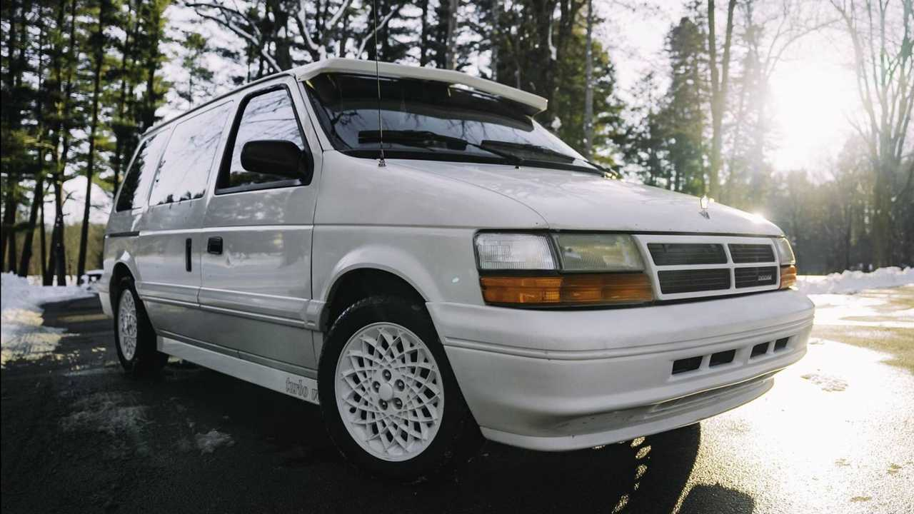 This heavily modified 1994 Dodge Caravan is for sale.