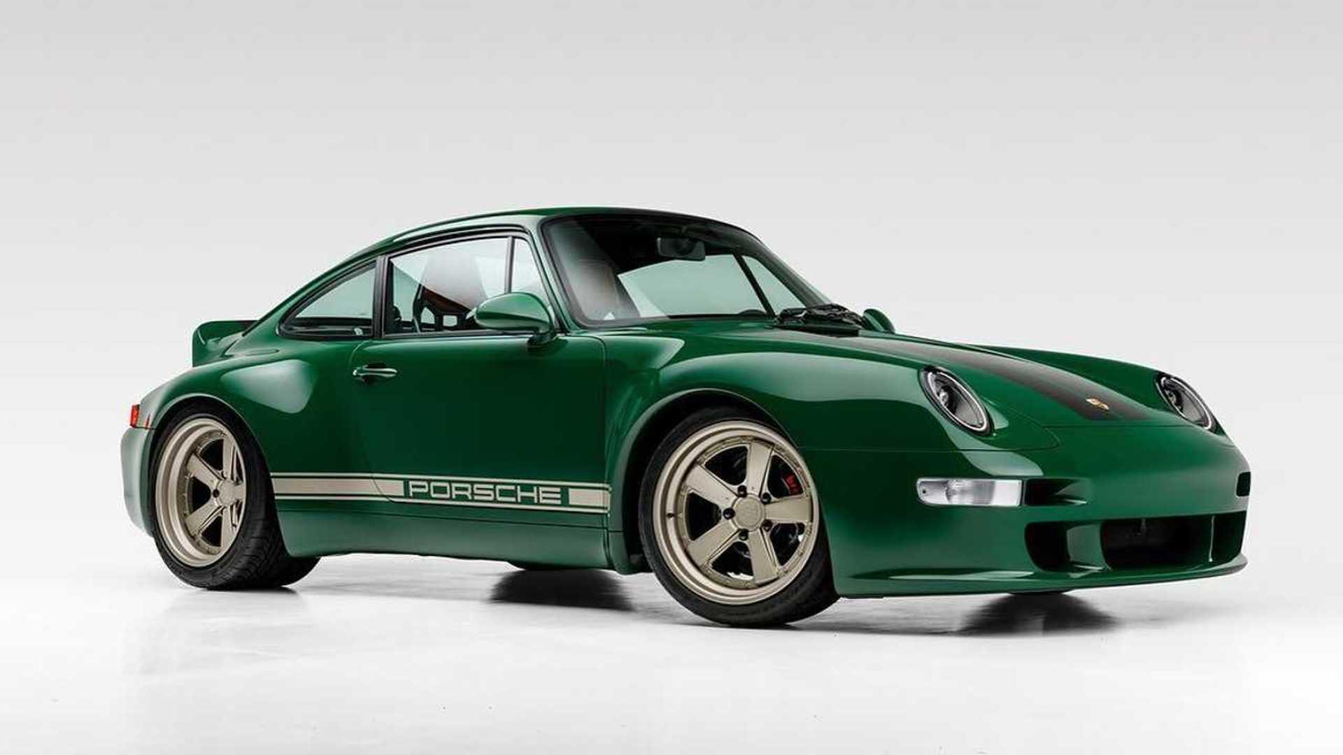 Gunther Werks Irish Green Commission Porsche 911 Front Three  Quarters