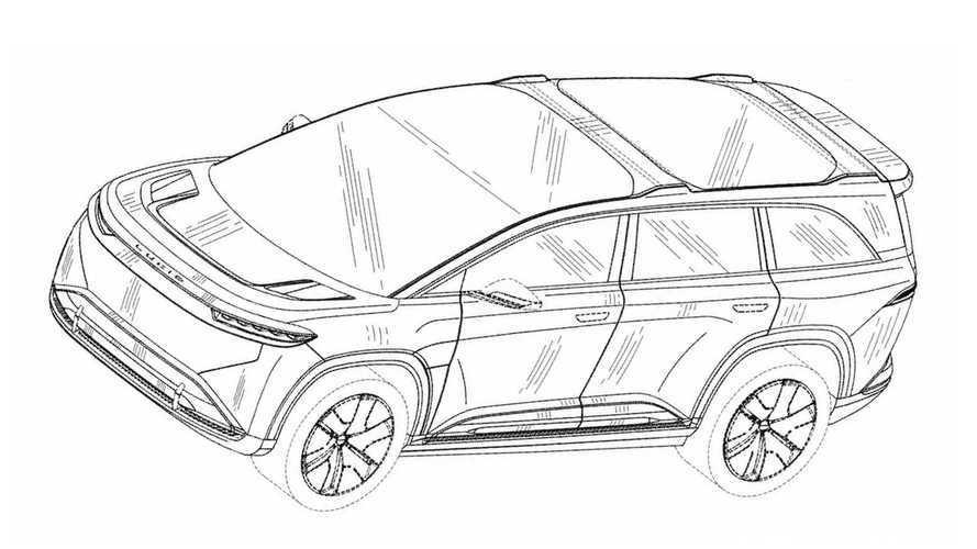 SUV elétrico Lucid Gravity adianta design final em imagens de patentes