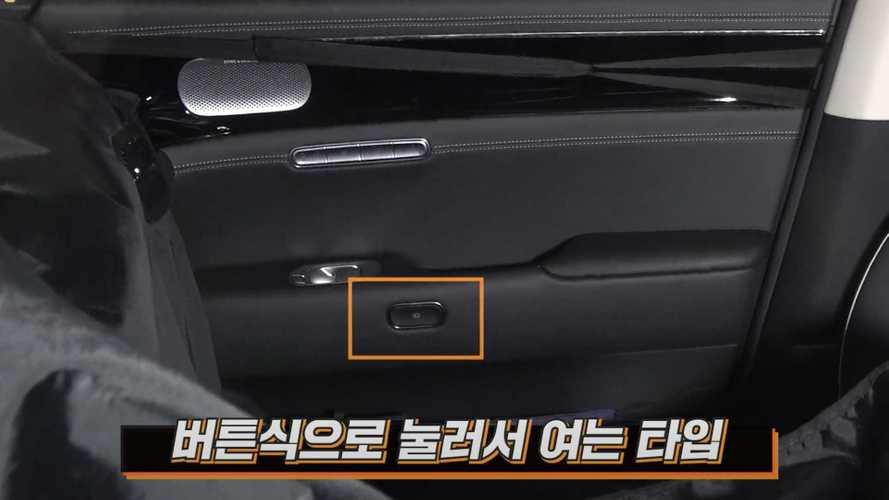 New Genesis G90 Spied Inside Showing Electronic Door Openers