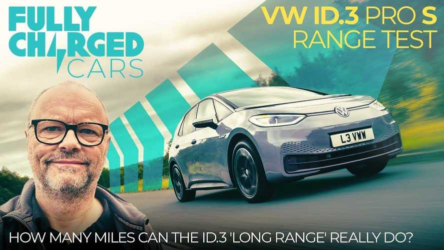 Check out how far a 77-kWh VW ID.3 Pro S drives on a charge