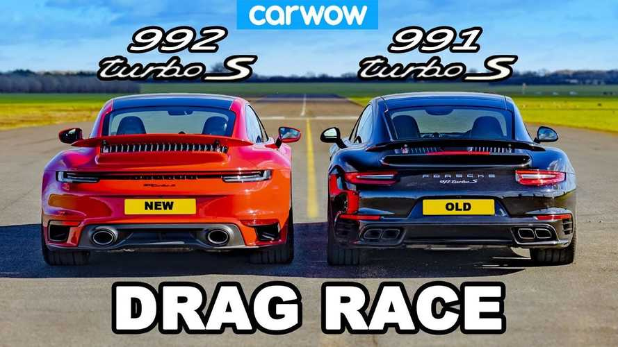 Porsche 911 Turbo S Drag Races Itself In New Vs Old