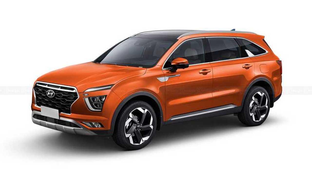 Hyundai Alcazar em projeção