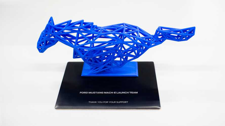 Ford Mustang Mach-E 3D-Printed Sculpture