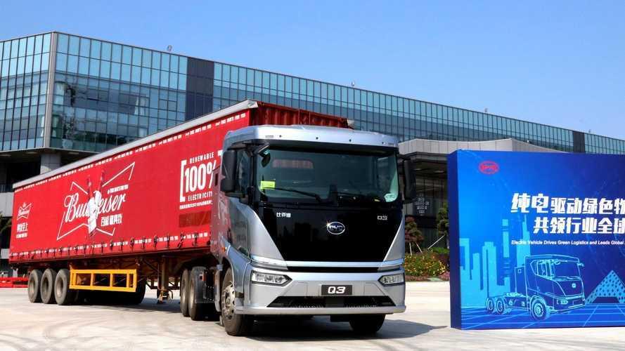 Caminhões elétricos da BYD vão equipar 'frota verde' da Budweiser