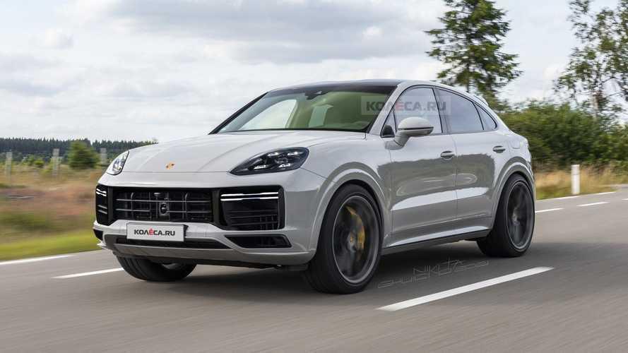 2022 Porsche Cayenne Coupe facelift rendering