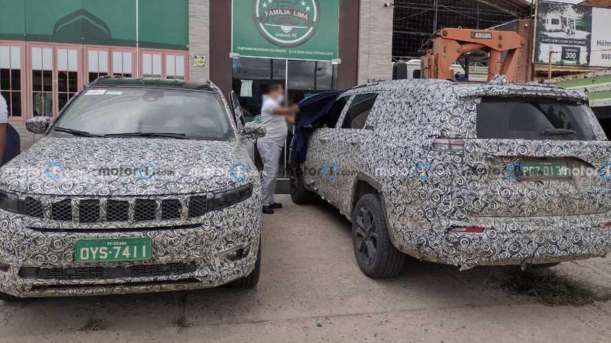 Novo Jeep Commander é flagrado com menos camuflagem no Brasil