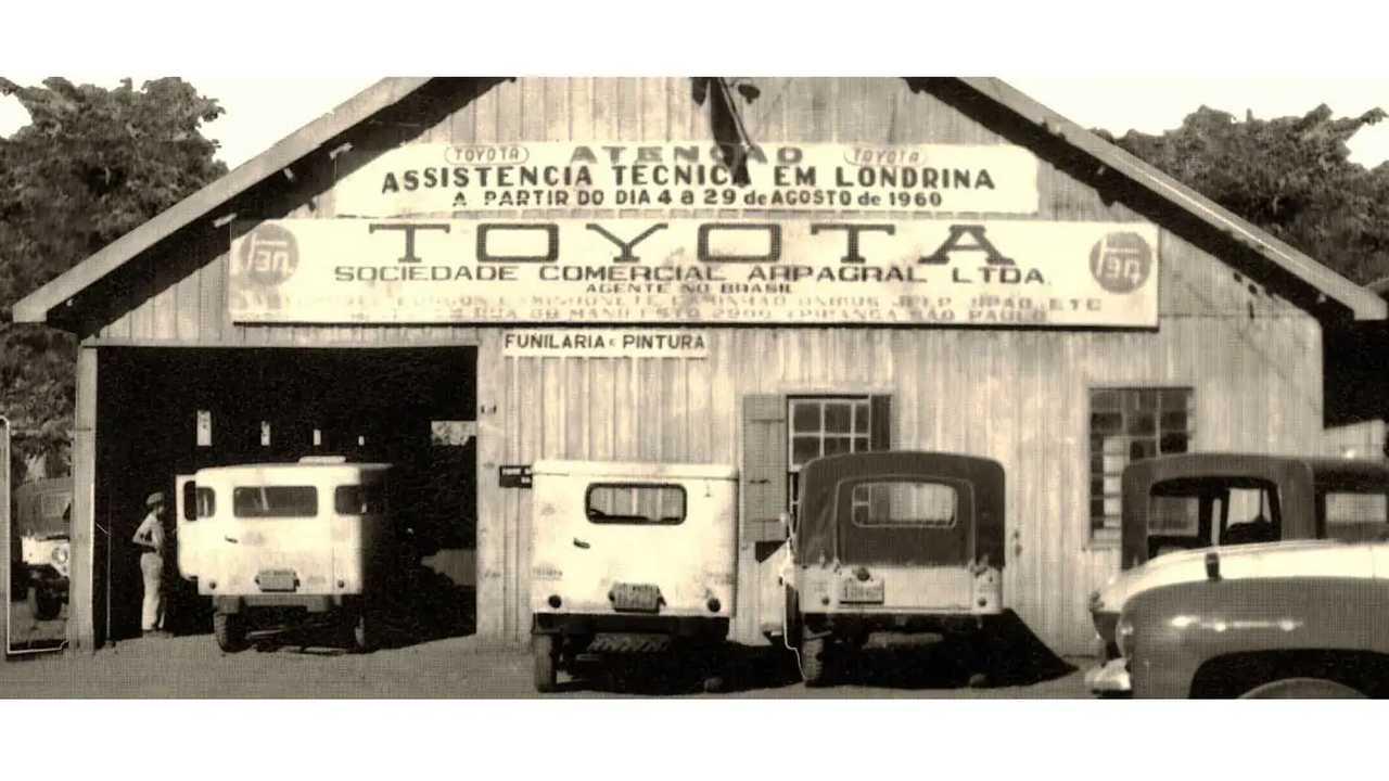 Fachada da 1ª linha de montagem da Toyota no Brasil