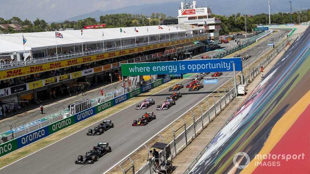 Spanish GP 2020 start of race