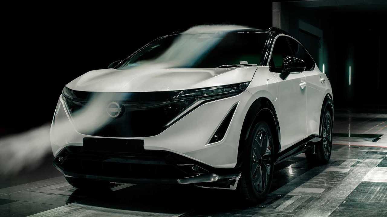 Nissan Ariya im Windkanal: Mit einem cW-Wert von 0,297 ist das Elektro-SUV sehr windschlüpfig