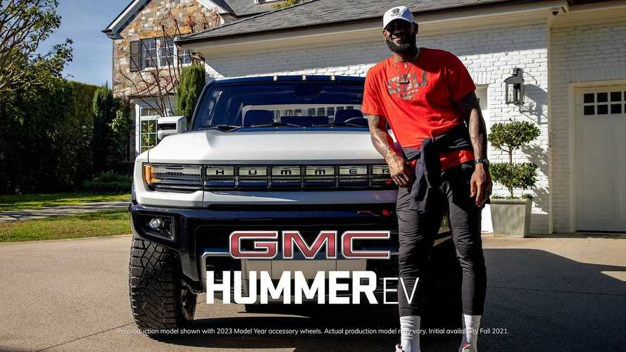 Watch LeBron James Check Out GMC Hummer EV Truck And Call It A Beast