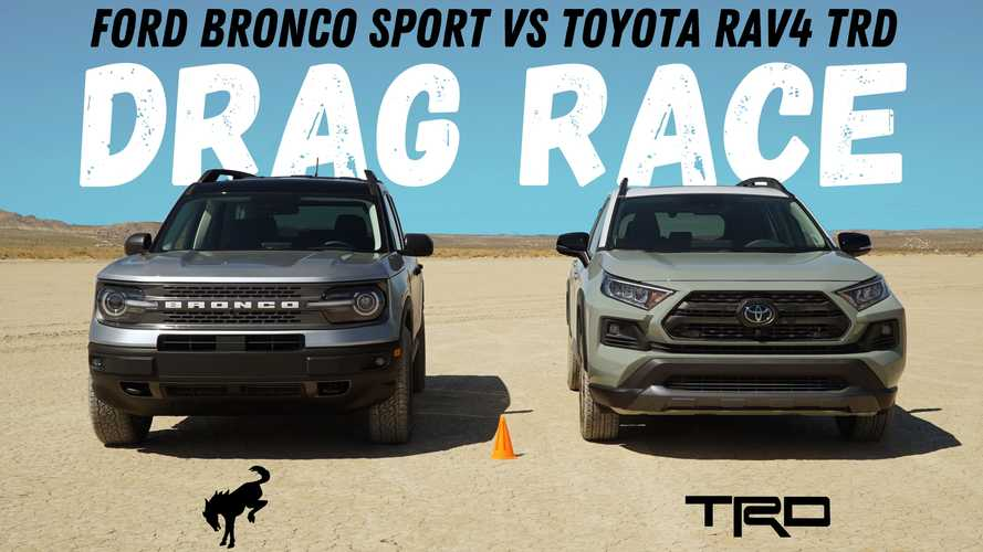 Dirty Drag Race: Ford Bronco Sport Vs Toyota RAV4 TRD Off-Road