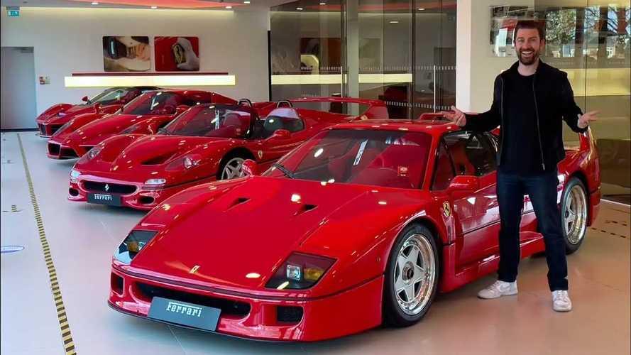 La spettacolare collezione delle cinque hypercar Ferrari