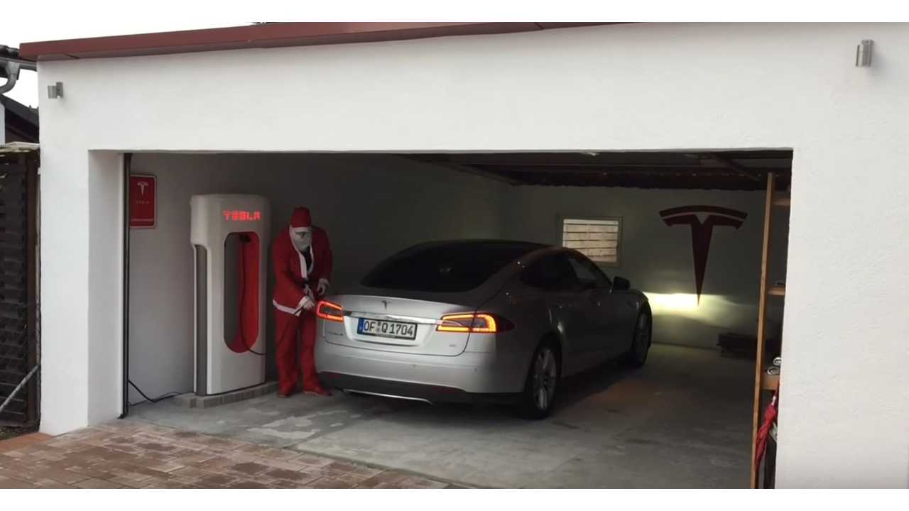 This Tesla Owner Put A Supercharger In His Own Garage - Video